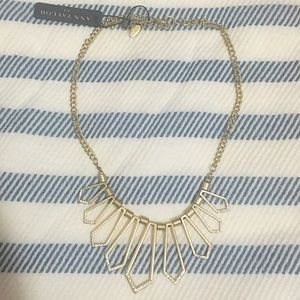 Ann Taylor Geometric Icicle Bib Necklace